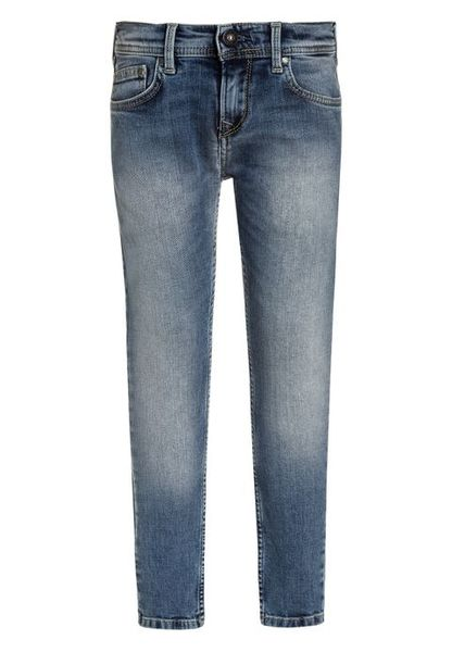 Pepe Jeans: Finly Skinny Low Waist Jeans, Light Blue