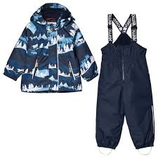 Reimatec®: Toddlers' winter jacket and pants, Ruis, Jeans blue