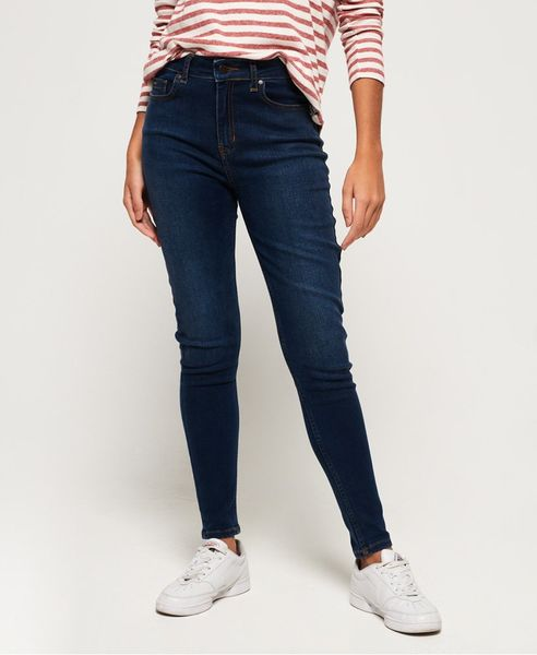 Superdry: superthermo skinny high rise, mid indigo