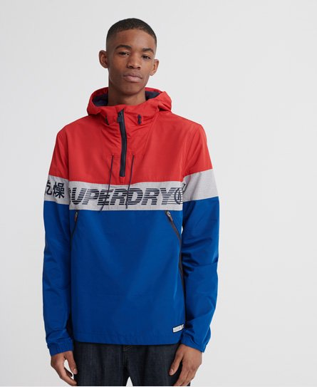 Superdry Ryley Overhead jacket, rouge red