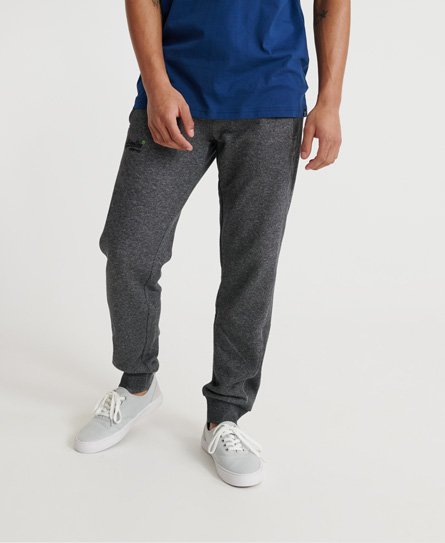 Superdry Orange label classic jogger ub, Mid grey texture