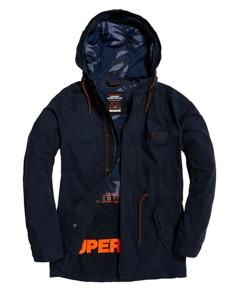 Superdry: Aviator rookie parka jacket, Nightshade