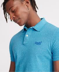 Superdry Classic pique s/s polo, Electric blue grit
